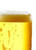 Beer mug on isolated background. Foamy beer poured into the jug Stock Image