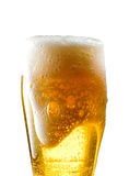 Beer mug on isolated background. Foamy beer poured into the jug Royalty Free Stock Image