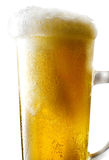 Beer mug on isolated background. Foamy beer poured into the jug Stock Images
