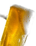 Beer mug on isolated background. Foamy beer poured into the jug Stock Photo