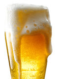 Beer mug on isolated background. Foamy beer poured into the jug Royalty Free Stock Photos