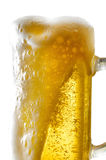 Beer mug on isolated background. Foamy beer poured into the jug Stock Photography