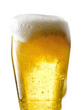 Beer mug on isolated background. Foamy beer poured into the jug Royalty Free Stock Photography
