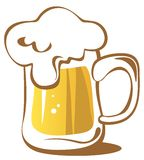 Beer mug. Isolated on a white background Royalty Free Stock Photography