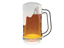 Beer mug isolated on a white background Royalty Free Stock Image
