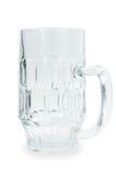 Beer mug. Large glass beer mug closeup isolated on white background Royalty Free Stock Images
