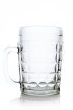 Beer mug. Large glass beer mug closeup isolated on white background Stock Photos