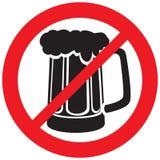 Beer mug not allowed sign. Beer mug not allowed symbol, beer mug not allowed, beer mug stock illustration