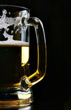 Beer mug over black Stock Photo