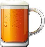 Beer Mug. Over white. EPS 10 Stock Photography