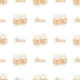 Beer mug seamless pattern Stock Image