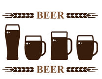 Beer mug set Royalty Free Stock Photography