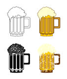 Beer mug set Stock Images