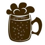 Beer mug silhouette vector Stock Image