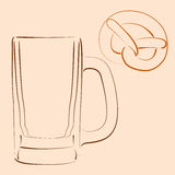 Beer mug. Stock Images