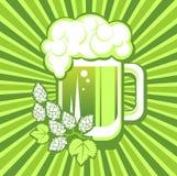 Beer mug and strips Royalty Free Stock Photo