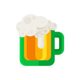 Beer mug vector icon in flat design style. Ale glass cup symbol. Royalty Free Stock Images