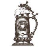 Beer mug vector logo design template. oktoberfest Stock Photos