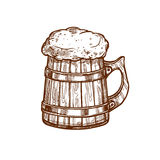 Beer mug vector sketch icon Royalty Free Stock Photo