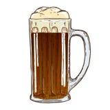 Beer mug on white background royalty free illustration