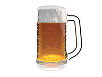 Beer mug  on a white background Stock Image