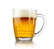 Beer mug on white background Royalty Free Stock Photography