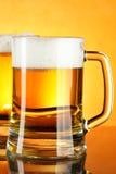 Beer mugs stock photography