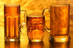Beer mugs Stock Images