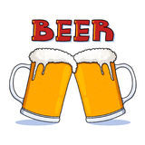 Beer mugs illustration Stock Image