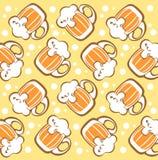 Beer mugs background Stock Image