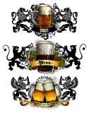 Beer mugs decorative Royalty Free Stock Photos