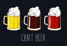 Beer mugs stock illustration