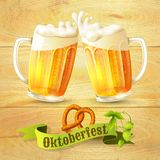Beer Mugs Octoberfest Poster Royalty Free Stock Images
