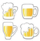 Beer mugs set Stock Images