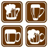 Beer mugs set Stock Photography