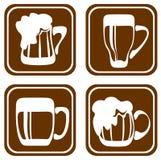 Beer mugs set Stock Photography