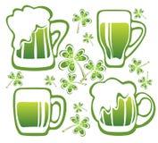 Beer mugs set Royalty Free Stock Photos