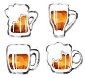Beer mugs set Stock Image