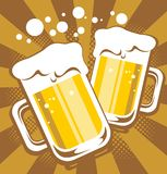 Beer mugs Stock Photo