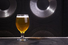 Beer and music Stock Photography