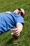 Beer in nature Royalty Free Stock Photography