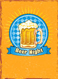 Beer night illustration Stock Image