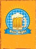 Beer night illustration stock image
