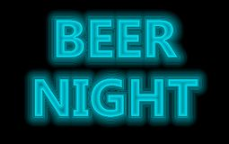 Beer night neon Royalty Free Stock Photos