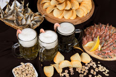 Beer Nosh-up Royalty Free Stock Image
