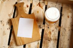 Beer note Stock Images