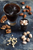 Beer and nuts Stock Image