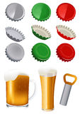 Beer objects Stock Photography