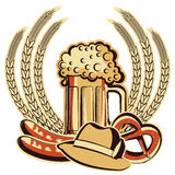 Beer oktoberfest symbol.Vector graphic illustratio Stock Image