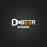 Beer opener design background vector illustration